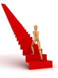 Moving Up (With clipping path). Moving Up (computer generated image stock illustration