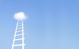 Moving up the ladder Stock Photography