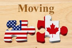 Moving from the USA to Canada Royalty Free Stock Images