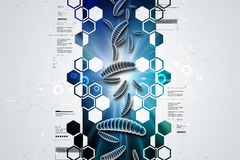 Moving virus in multi color background. 3d illustration of Moving virus in multi color background Stock Photography