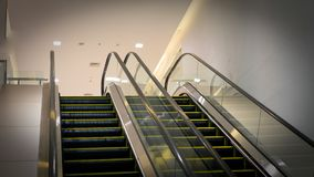 Up And Down Escalator Hospital stock photography