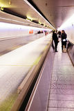 moving walkway Royaltyfri Foto