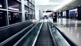 Moving walkway at the airport.  stock footage