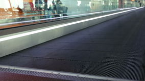 Moving Walkway at the Airport stock video
