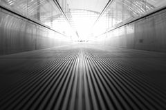 Moving walkway and light Royalty Free Stock Photography