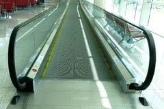 Moving walkway. In a modern airport Royalty Free Stock Images