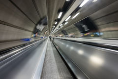 Moving walkway on tube Royalty Free Stock Images