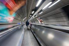 Moving walkway on tube Royalty Free Stock Image