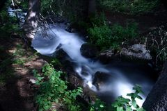 Moving water. Stream in the Rocky Mountains, Colorado, U.S.A Royalty Free Stock Image