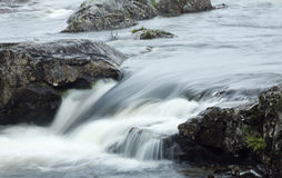 Moving water, motion blur Stock Photo