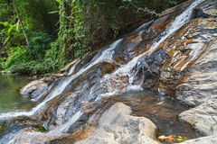 Moving water. Small creek in the jungle of Thailand Stock Photography