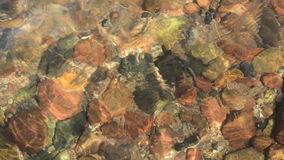 Moving Water Wave on Stones stock video footage