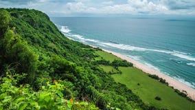 Moving waves on Nunggalan Beach Coastline, Uluwatu, Bali, Indonesia. Moving waves on Nunggalan Beach Coastline, Uluwatu, Bali - Indonesia stock video footage