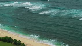 Moving waves on Nunggalan Beach Coastline, Uluwatu, Bali, Indonesia. Moving waves on Nunggalan Beach Coastline, Uluwatu, Bali - Indonesia. One incognizable stock video