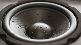 Moving wet audio speaker Royalty Free Stock Photos