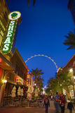 Moving wheel -street entertainment- las vegas Royalty Free Stock Photography