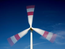 Moving wind turbine Stock Image