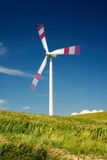 Moving wind turbine Royalty Free Stock Photography