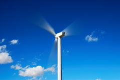 Moving wind turbine Royalty Free Stock Image