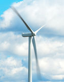 Moving wind turbine. Stock Photos