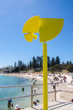 Moving Yellow Sculpture: Cottesloe Beach Royalty Free Stock Image