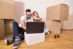 Moving in Stock Image