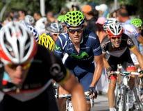 Movistar小组西班牙骑自行车者Jose ・约阿奎恩・罗哈斯 库存照片