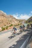 Movistar Cyclist Team at Caminito del Rey Stage Stock Image