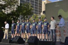 Movistar Fachmann-Radsportteam Stockfotos