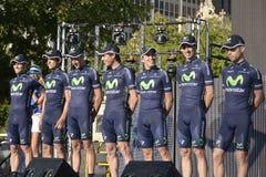Movistar Fachmann-Radsportteam Stockbilder