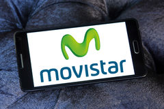 Movistar mobile operator logo Stock Images