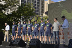 Movistar Professional Cycling Team Stock Photos