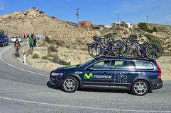 Movistar Support Vehicle Royalty Free Stock Photo