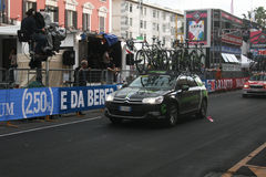 Cannondale team car. The cannondale team car during the giro ditalia cycling race at bari in italy Stock Photography