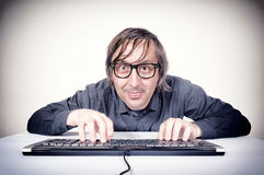 Movking hacker Stock Images