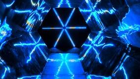 Movments för mandala för spegelstjärnarör hypnotiska ändlösa royaltyfri illustrationer