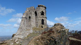 Mow Cop Castle Cheshire England. Mow Cop Castle. A folly built 1754. Now owned by the National Trust in England Stock Images