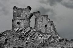 Mow Cop Castle, on the Staffordshire/Cheshire Borders royalty free stock images