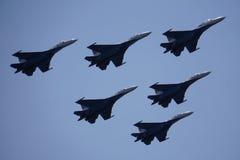 Mowa avagruppy przy airshow Zdjęcie Royalty Free