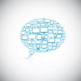 Mowa bąbel nowożytne komputerowe ikony ilustracji