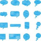 Mowa bąbel, rozmowa, chmura, komunikacja ilustracja wektor