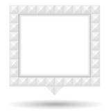 Mowa bąbel z biel Textured granicą Zdjęcia Royalty Free