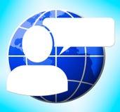 Mowa bąbla loga znaczenia wiadomości 3d Pusta ilustracja ilustracji