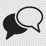 Mowa bąbla Płaska Wektorowa ikona Dyskusja dialog loga illustrat ilustracja wektor