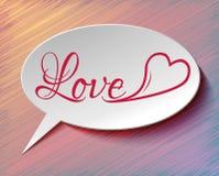 Mowa bąbla serce i miłość Fotografia Stock