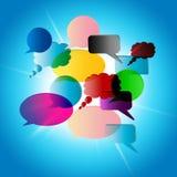 Mowa bąbla sposobów rozmowa Komunikuje I Opowiadać ilustracji