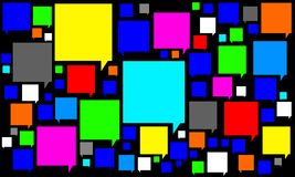 Mowa bąbla ikona Fotografia Stock