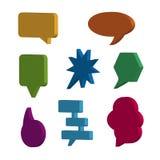 Mowa Gulgocze 3D ikony Ustawiać Odizolowywa Na bielu - Wektorowa ilustracja - Zdjęcie Royalty Free