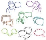 Mowa i komunikaci ikony Zdjęcie Royalty Free