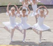Mowa młody baleriny studio Alla Dukhova Obrazy Stock